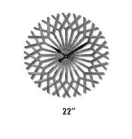 Sun Shaped Home Decor Galvanize Wall Clock