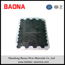 Silicon Carbide Anti Ballistic Ceramics Bulletproof Jackets Hexagonal Tiles For 7.62MM NATO Bullets