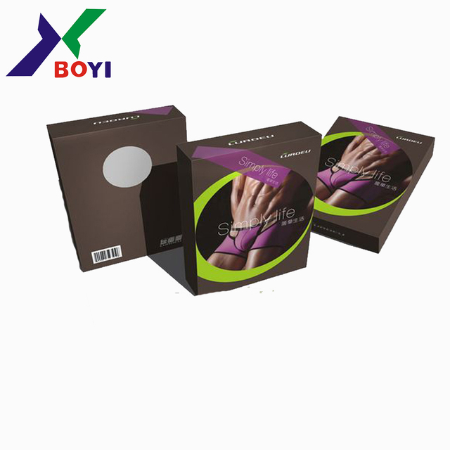 Paper Material and Recyclable OEM Feature underwear packaging box