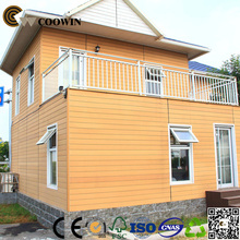 outdoor anti-uv eco friendly composite wood retaining wall
