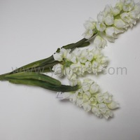 2016 wholesale fabric flower cheap silk flower bushes white hyacinth flower