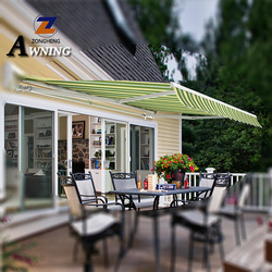 Portable retractable patio swing with canopy motorized awning connector