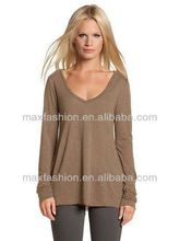 New Simple Coffee Blouses Fashionable 2012