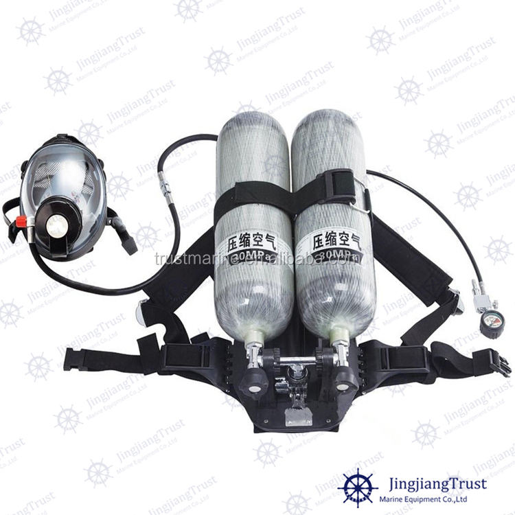 CCS, EC, GL approved double cylinders portable self contained breathing apparatus price