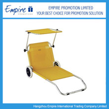 promotional folding beach chair with wheels