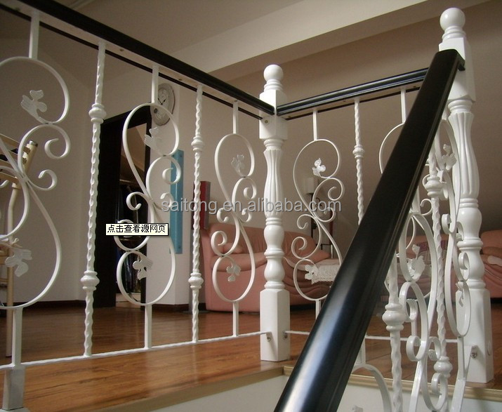 Ornamental galvanized wrought iron balcony railing baluster