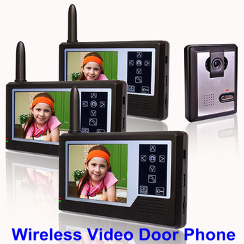 2.4GHz Digital wireless video door bell intercom system with 3.5 Inch TFT Screen