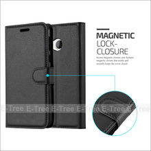 Lichee Pattern Wallet Flip Leather Phone Case Back Cover With Card Slots Stand For HTC U Play