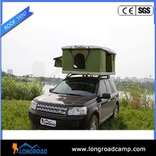 Roof top tent camper with glass fiber roof
