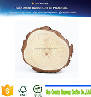 "4pcs 7""-8.5"" Unfinished Natural Blank Wood Slices Circles with Tree Bark Log Discs for DIY Craft"
