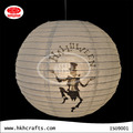 Handmade paper balloon lantern for Halloween decoration