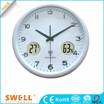 Clock day date analog modern wall clock for elderly , dial clock wall to print