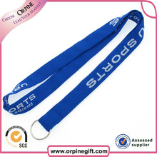 eco-friendly organic cotton lanyard with plastic clip