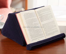 Foldable Plastic PVC Inflatable Wedge Tablet Holder For Book
