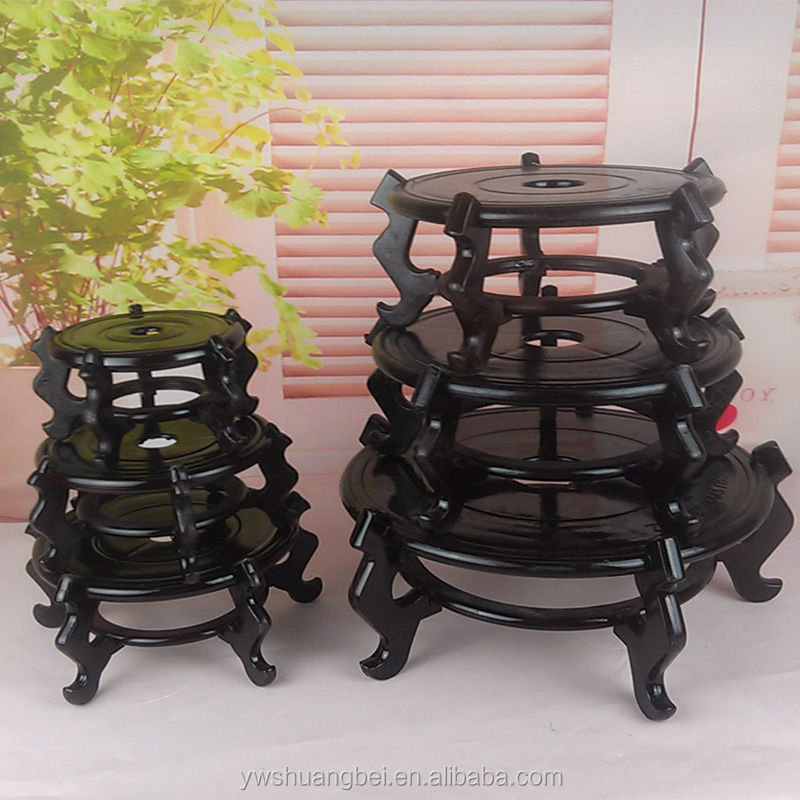 Solid wood flower pot frame fish tank frame wooden furnishing articles base sitting room