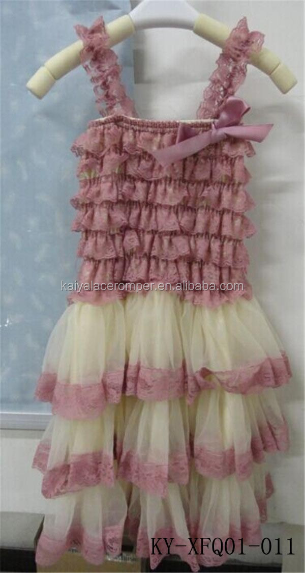 dust pink tier chiffon lace dress birthday children frocks designs 3 years baby frock designs