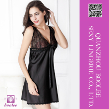 Hot sale women sexy black nighty babydoll beautiful sexy nighty babydoll