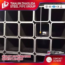 wholesale galvanised Steel Hollow Sections/ black rectangular Square pipe Tube / galvanized steel square tube from China