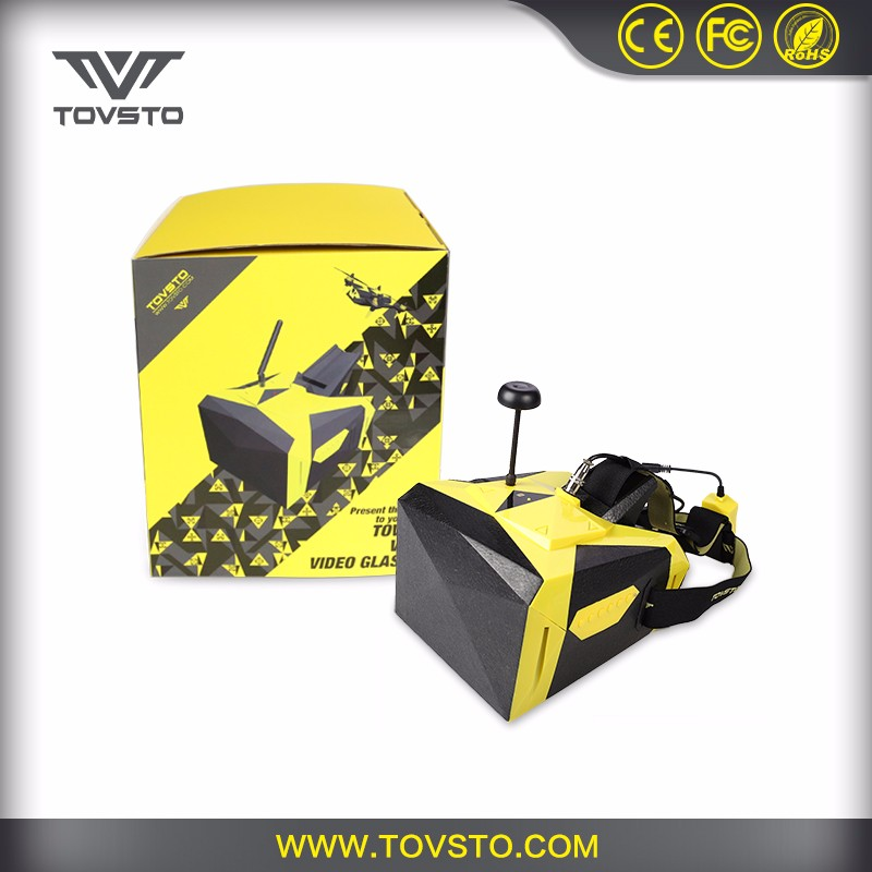 TOVSTO FPV glasses 32 Channel 5.8G 1080P Video HD Transmitter 7 Inch Screen Goggle For RC Drones