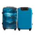 Fashion Jean abs printed hard shell luggage bag with aluminum alloy rod