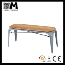 Designer commercial furniture colorful benches for iron frame