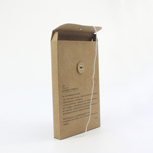Good quality kraft paper file bag paper bag brown color file cover with customized printing