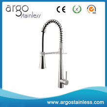 Pull down spray spring loaded kitchen sink mixer tap faucets