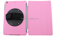 2014 Hand strap folio leather case for ipad mini made in china factory