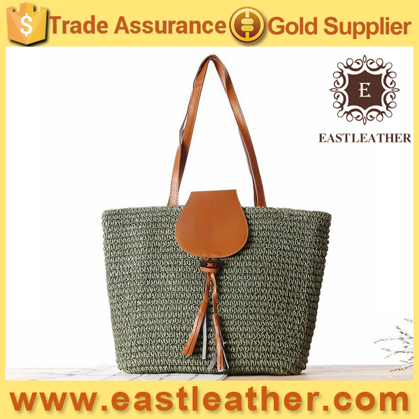 S169 fashion trends summer 2016 Country Style shoulder straw bag