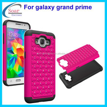 New arrival cover protector combo case for Samsung galaxy grand prime with babysbreath bling