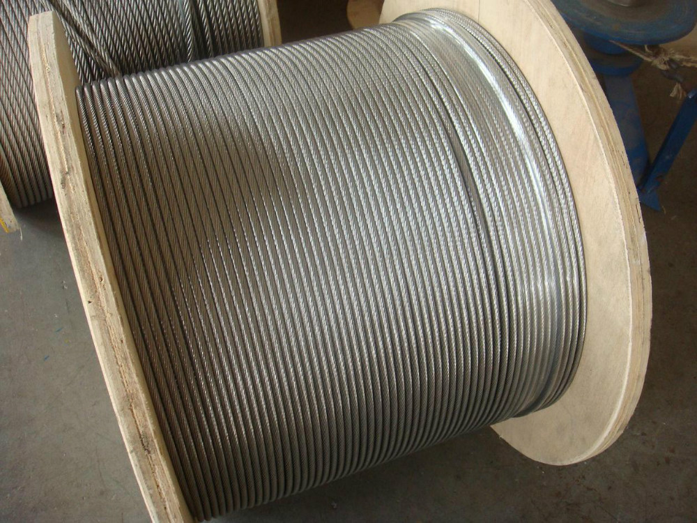 high quality galvanized steel wire rope for lifting and drawing of equipment 6X26SW+FC type