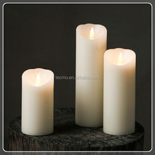 TECMO Ivory series 3D real wax battery LED candle