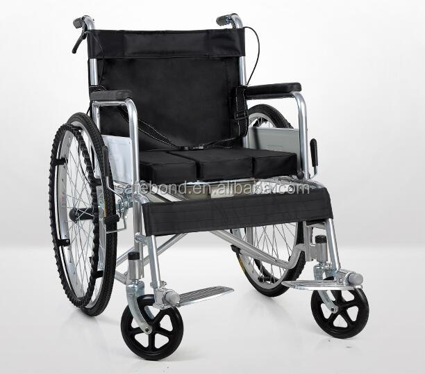2016 high quality Folding Commode manual wheelchair with toilet for sale