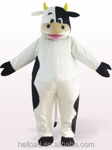Animal cartoon plush cow mascot costume for promotion
