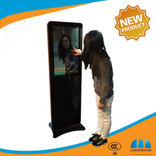 42 Inch floor standing LCD Advertising Digital Signage Video Display With Mirror