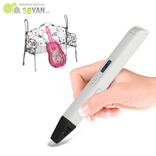 Hot selling 3D drawing pen magic 3D printing toys more popular 3D printer pen for children