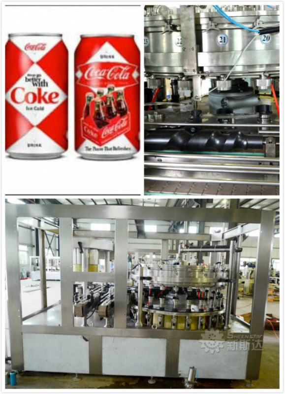SHEENSTAR High Quality Carbonated Drink Can Filler and Seamer