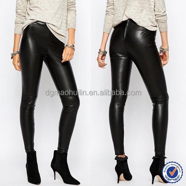 leather pants girls sexy slim fit leggings for women faux leather good stretch custom tight pants