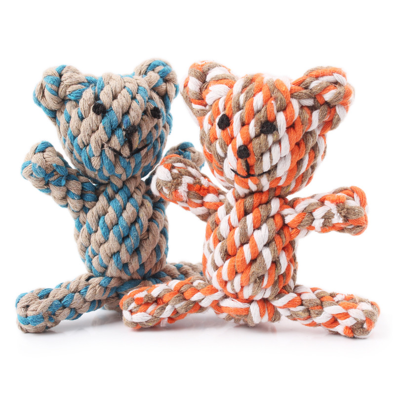 2017 China Factory Animal Shape Dog Cotton Rope Chew Toys Pack