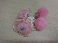 Yarn Rose flower girls artificial hair accessory lovely ponytail hair holder