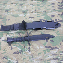 Black US M9 Plastic Knife for Training Simulation Tactical knife Camping Outdoor Plastic Dummy Knife Model
