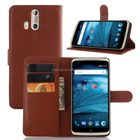 Mobile accessories cell phone cover wallet leather with card slots stand flip phone case for zte axon pro made in china