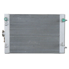 Heavy construction equipment water heat exchanger