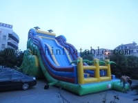 hot sales giant inflatable dolphin slide/ slip