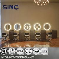 Modern hair salon mirror with LED light