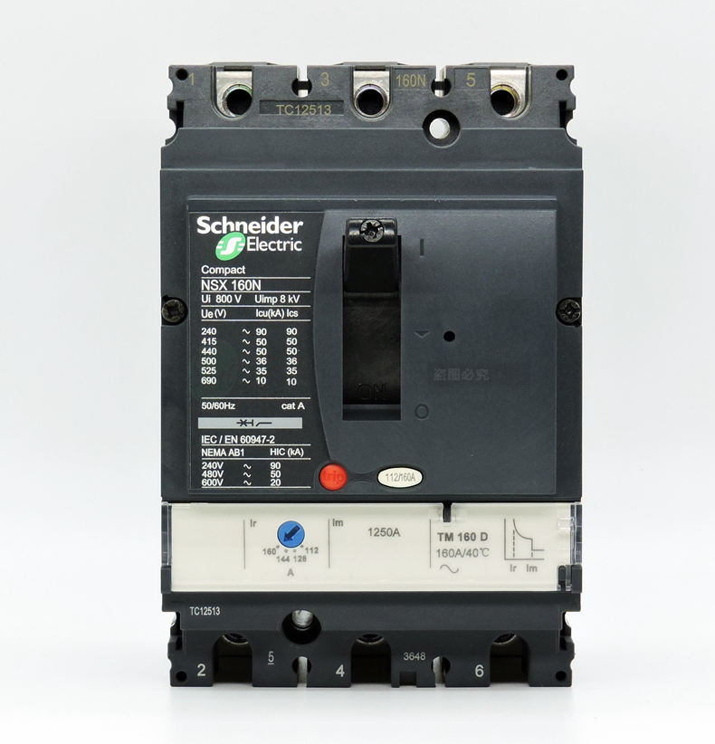 High quality 3 Pole NSX160N Moulded Case Circuit Breaker MCCB
