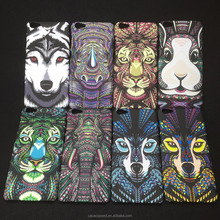For iphone 7 plus 8 7 6s 5s SE Cover 3D Embossed Animal Pattern Matte Hard PC Fluorescence Glow in the Dark Phone Case Luminous