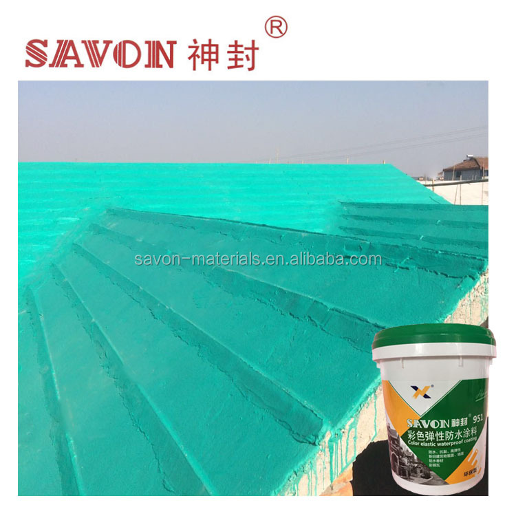Colorful elastic coating roofing waterproof material