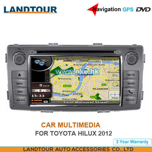 Car multimedia 7Inch Navigation GPS DVD for toyota HILUX 2012 CE FCC ROHS