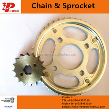 A grade CG150 motorcycle chain and sprocket rear and front